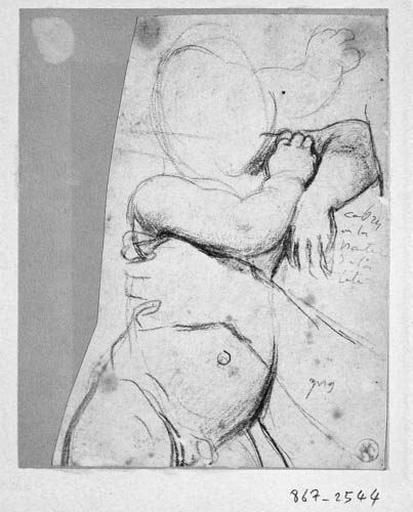 L'Enfant (son corps, le bras de la Vierge, reprise de sa main droite)