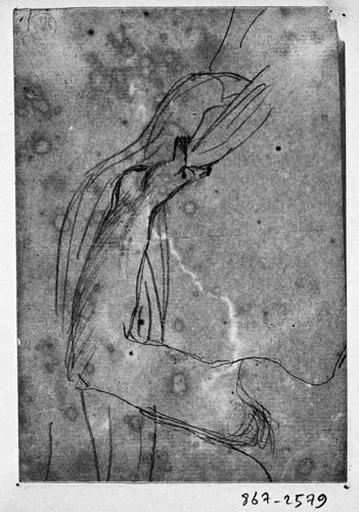 Ange de gauche (Bras écratant un rideau)