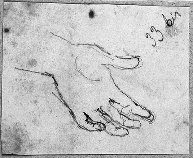 Sainte Germaine (Sa main gauche ouverte)