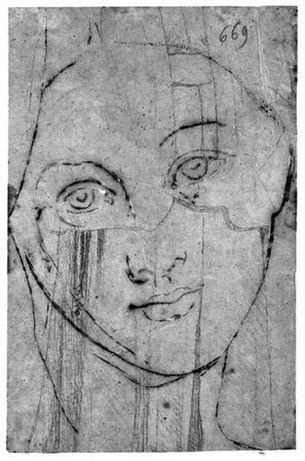 Vénus (Sa tête, par dessus un autre dessin au crayon : sorte de draperie.)_0