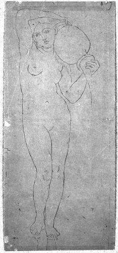 Ensemble de la figure nue (portant une urne sur l'épaule gauche)_0