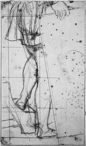 Michel-Ange (Ses jambes et sa main droite tenant un tableau)_0