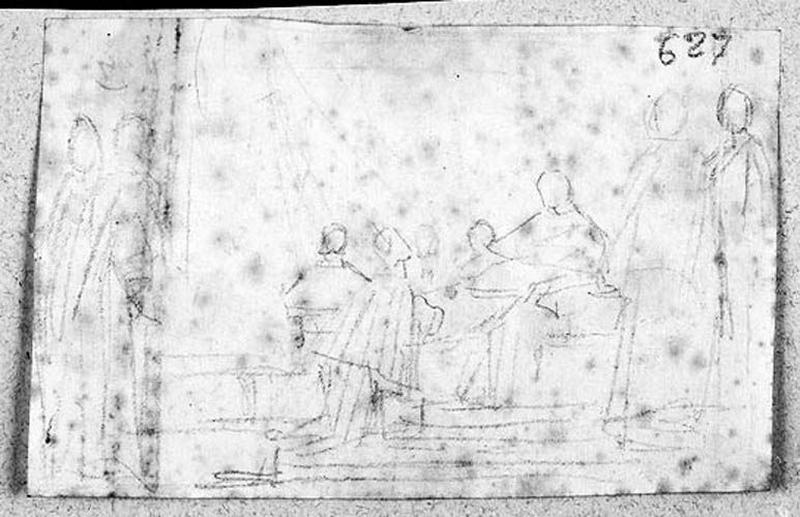 Raphaël présenté au pape (Composition sommaire)_0