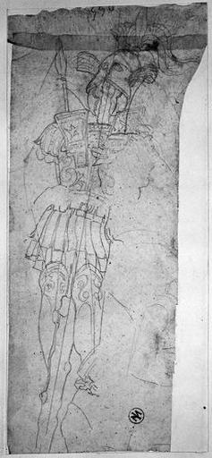 Trophées d'armes grecques (et silhouette de Romulus)_0
