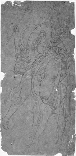 Romulus, vainqueur d'Acron (Partie droite de la composition)