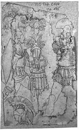 Cuirasses et casques grecs