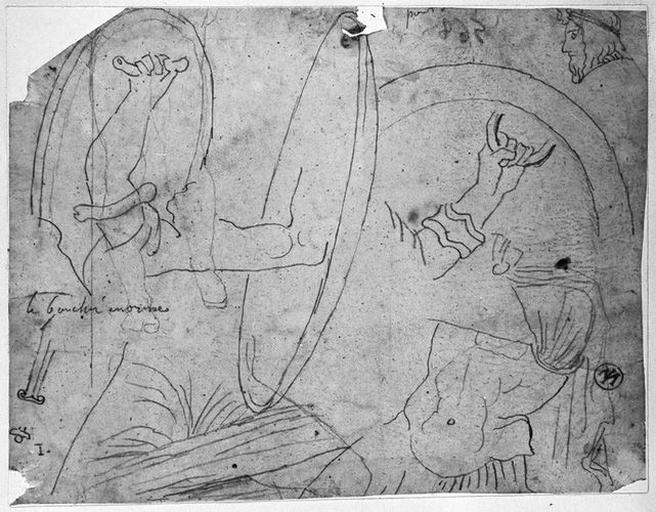 Bouclier grec (avec le bras des soldats qui les portent) et une cuirasse_0