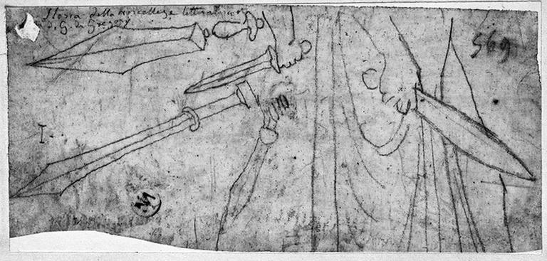 Epées grecques (dont l'une est tenue par une main)_0