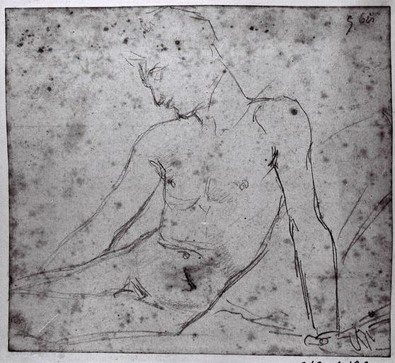 Evirallina (Homme nu, assis, de profil à gauche, appuyé sur son bras gauche tendu). Verso : Sorte de cartouche, avec un 'H' au milieu_0