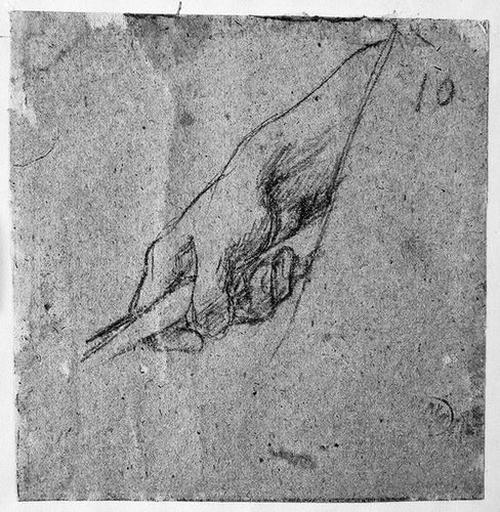 Main droite d'homme (Baissée et tenant un bâton)_0