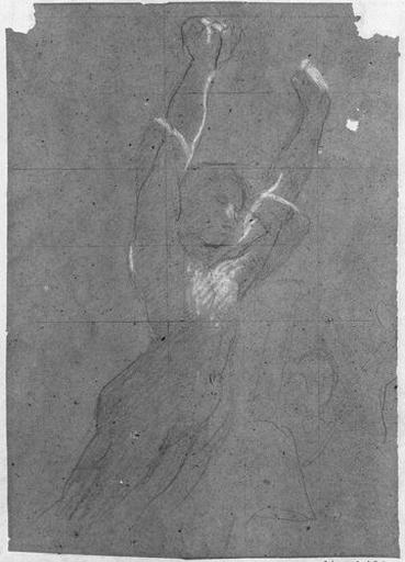 Femme nue levant les bras (De profil à droite)_0