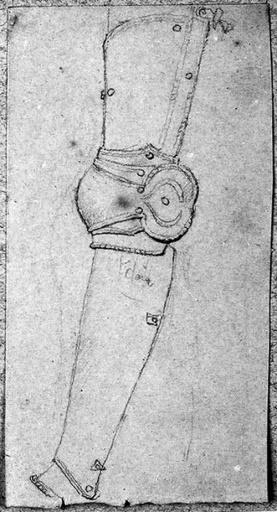 Jambière d'une armure (de profil à gauche)_0