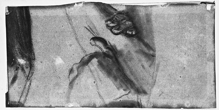 Brassard et cuissard (Et deux autres détails d'armure). Verso : (Stratonice) Main prenant un bras