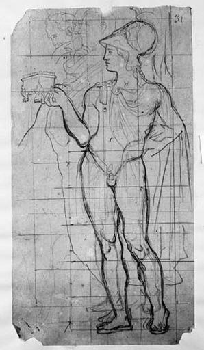 Alexandre (nu, avec idée de draperie), Michel Ange, Aristote et Aristarque_0