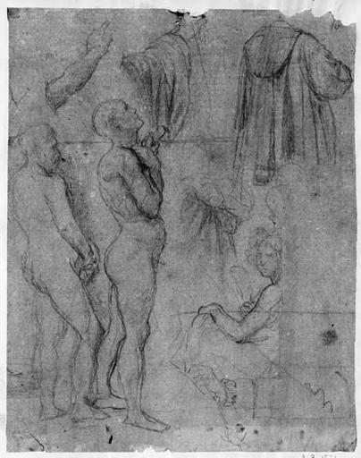 Poussin, Jean Goujon, David, Glück, Louis XVI (et jeune servant, nus ou détails)_0