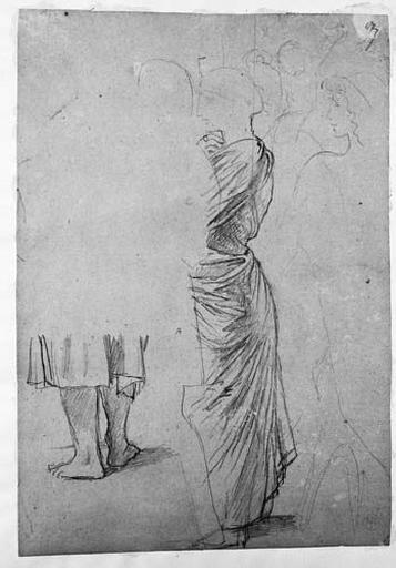 Aspasie (sa tunique) et Socrate (le bas de son corps et de sa draperie)_0