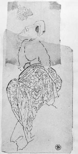 Molière (avec son manteau et son masque), Boileau (sa silhouette) et diadème_0
