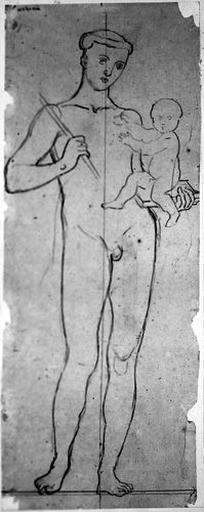 Saint Antoine de Padoue (Nu, tenant un enfant et un bâton)_0
