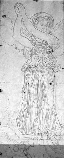 L'Archange Raphaël (Les deux bras levés et le pied posé sur des démons)