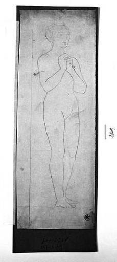 Sainte Rosalie (Nue, de trois quarts à droite, les mains jointes)_0
