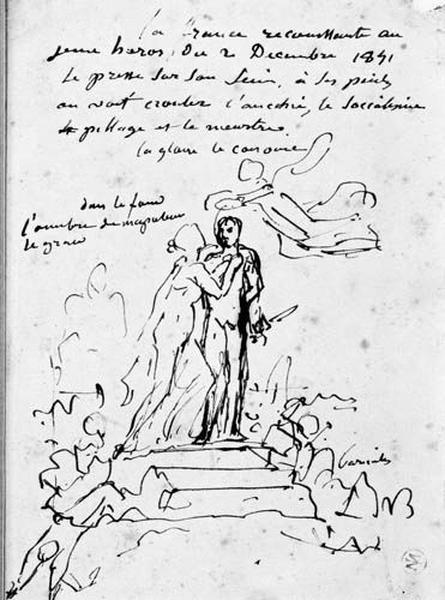 Louis Napoléon (embrassé par la France sur un piédestal et couronné par la victoire)_0