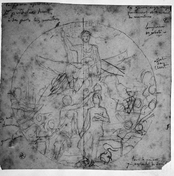 Ensemble de la composition ; Couronnement de Napoléon III_0