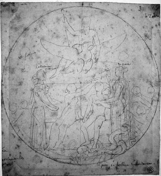 Ensemble de la composition : Couronnement de Napoléon III_0