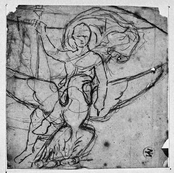 Napoléon Ier chevauchant l'aigle (Et un autre motif, dont un bras tendu, par-dessous)_0