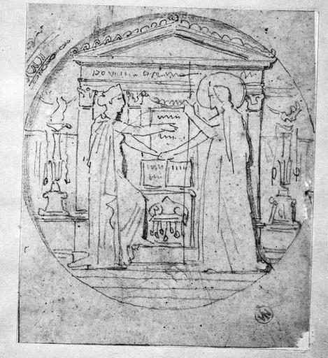 La France et la religion (Vêtues, se serrant la main devant un autel, dans un médaillon circulaire)_0