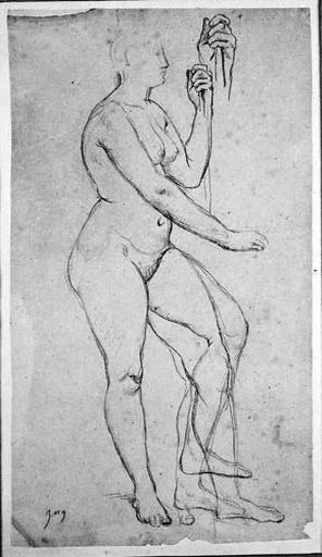 La France (Nue, de profil à droite, avec variantes pour la jambe gauche et reprise de la main gauche)