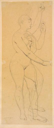 La France (Nue, avec des variantes pour le bras et la jambe gauches)
