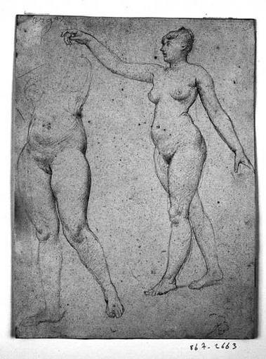 Une Renommée (Nue, de profil à gauche, avec reprise du bas de son corps)_0
