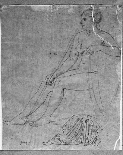Femme nue assise (De profil à gauche)_0