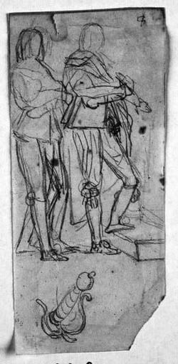 Le Sueur (Deux études, et reprise de la garde de son épée)_0