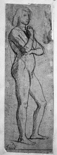 Le Sueur (Nu, de profil à droite)