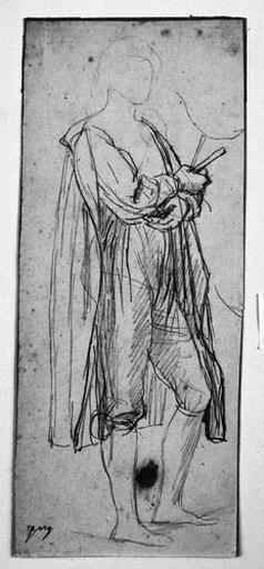 Le Sueur (Vêtu, de profil à droite)_0