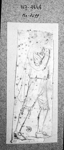 Personnage du temps de Louis XIII (Marchant, de profil à droite ; la tête manque)_0
