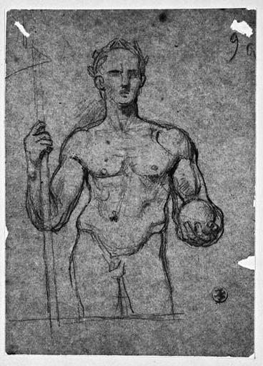 César (Debout, nu, à mi-corps, tenant un hast et un globe)_0