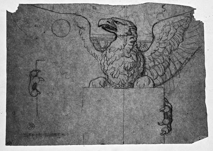 L'Aigle (Tenant un cartel, et une serre à part)_0