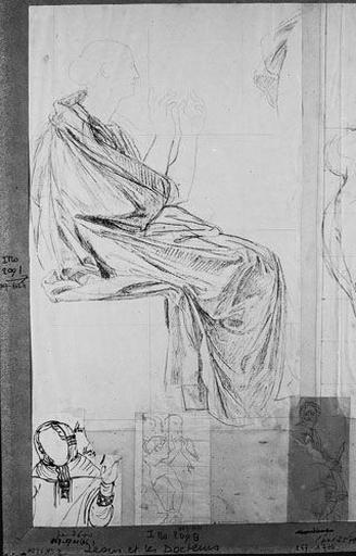 Trois femmes nues (De face, celles des côtés s'accoudant sur les épaules de celle du milieu, avec reprise de la main droite de cette dernière)_0