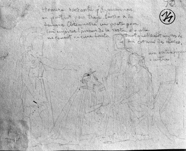 Composition d'ensemble (Agamemnon, partant pour la guerre, laisse un poète à sa femme pour charmer son ennui pendant son absence)_0