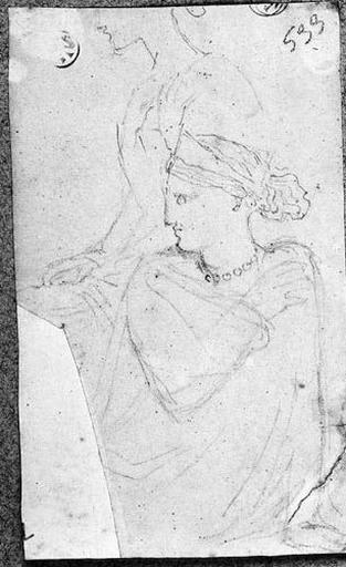 Clytemnestre (A mi-corps, de face et la tête de profil à gauche, le bras droit croisé sur la poitrine, avec reprise variée du sujet.)_0