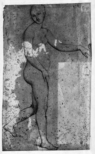 Campaspe (Nue, de profil à droite, le bras gauche tendu et détournant la tête)_0