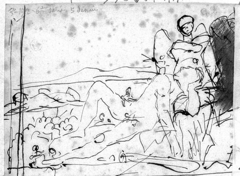 Croquis de la composition : Hercule et les pygmées_0