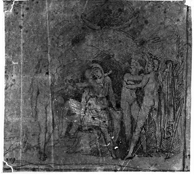 Ensemble de la composition : Le jugement de Pâris