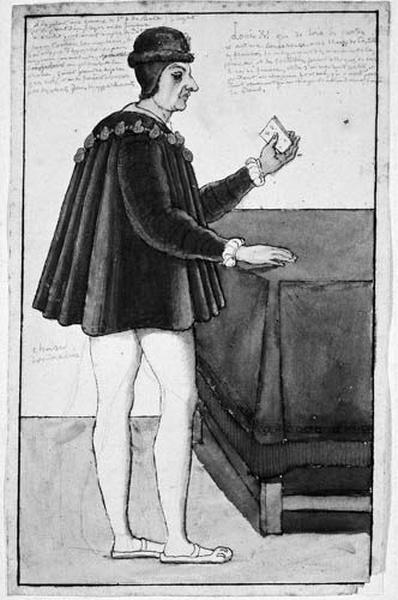 Louis XI se tirant les cartes