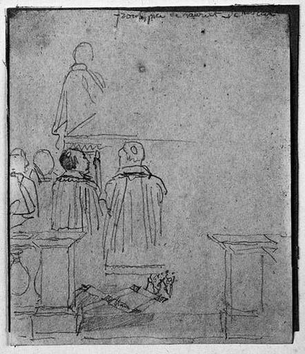 Deux Personnages agenouillés ; verso : Portrait de Charles IX_0
