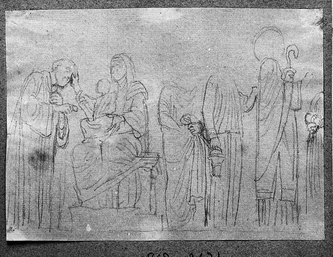 L'Enfant Jésus sur les genoux de la Vierge_0