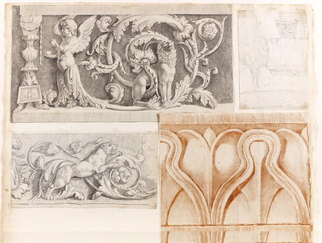 Dessins d'après des reliefs architecturaux_0