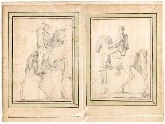 Statue équestre de Marc-Aurèle (Statue équestre de Marc-Aurèle au Capitole, vue arrière gauche )_0